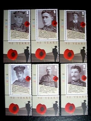 Isle Of Man 2008 90Th Anniv Of End Of Wwi Set Mnh Sg1460/5