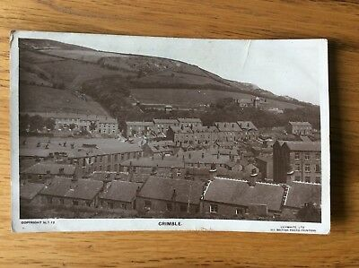Vintage Postcard, Crimble, Early View, Huddersfield, Real Photo, 1926