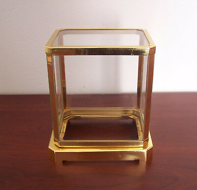 Brass & Glass Case for JAEGER  LeCOULTRE ATMOS  Clock 1970's Vintage