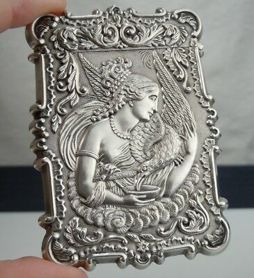Antique Sterling Silver Calling Card Case      54384