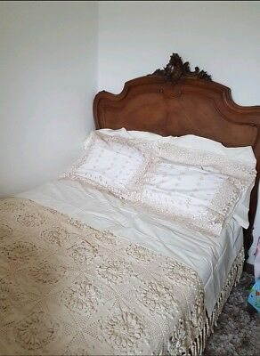 French Walnut Double Bed