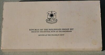 1975 PHILLIPINES PROOF SET with STERLING SILVER COINS, COA & BOX