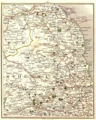 NORTHUMBERLAND. Coldstream Kelso Alnwick Morpeth Bellingham. CARY 1794 map