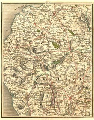 LAKE DISTRICT. Cumbria Westmorland Carlisle Cockermouth Kendal. CARY 1794 map