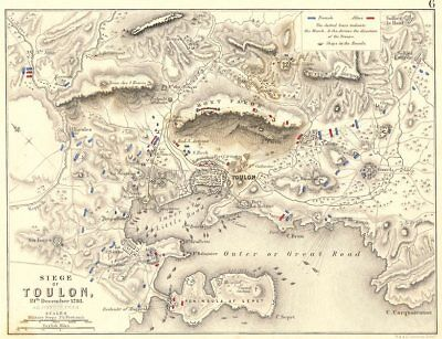 SIEGE OF TOULON. 19th December 1793. Var. French Revolutionary Wars 1848 map