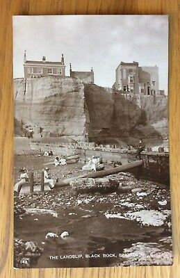 Vintage Postcard, Brighton, Black Rock,Landslip,Lovely Real Photo, Wardell,1916