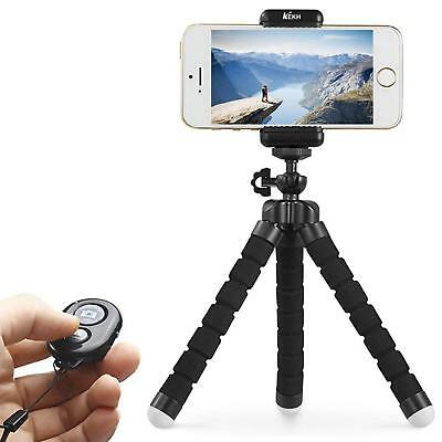 KEKH Phone Tripod Stand Holder Portable and Adjustable with Bluetooth Remote