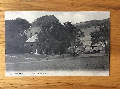 Vintage Postcard, Worthing, The Golf Club House, 1915, LL, Levy & Co