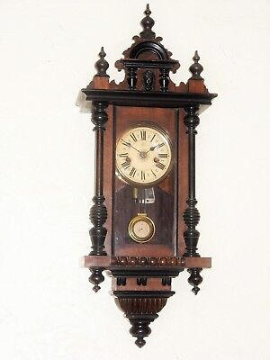 Very Rare 8Day Musical Chime Vienna Wall Clock By JUNGHANS In Good Working Order