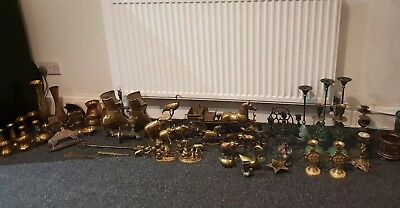 Job Lot Vintage Antique Collectable Brass Ornaments/Candlestick MUST SEE 12 PICS