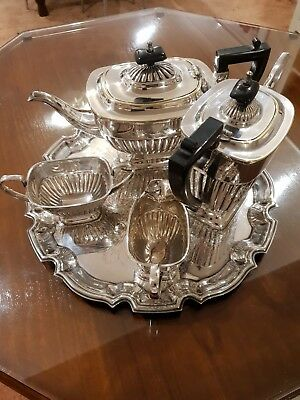 silver plate tea/coffee set. sheffield made
