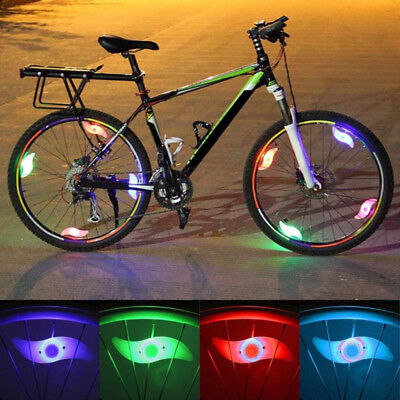 Bike Bicycle Cycling Wheel Spoke Wire Tyre Bright LED Flash Light Lamp + Battery