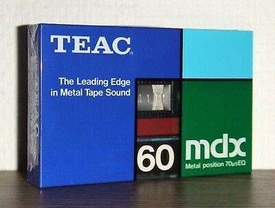 Cassette Tape - Teac Mdx 60 Metal Position (Sealed) Made In Japan