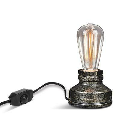 Vintage Table Lamp,Ambimall Antique Small Industrial Desk Lamp with Dimmer