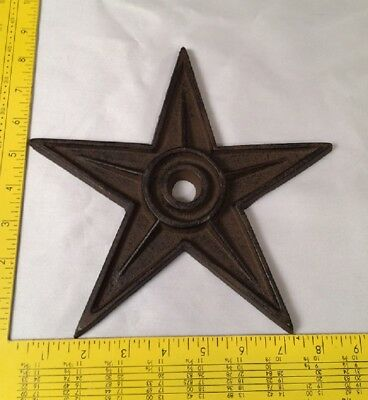 "Cast Iron Center Hole Star Rustic  X-Large Decor 9"" Wide 0170-02105"