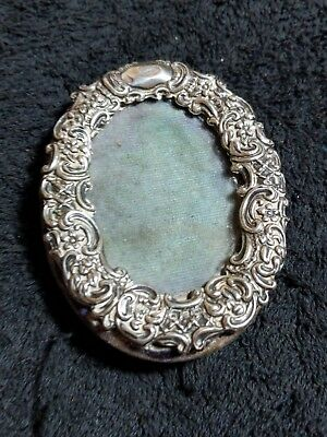 antique Victorian sterling silver stamped  SMALL  PHOTO FRAME see photos