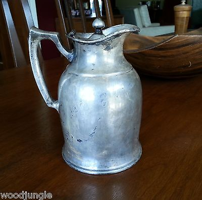 Rare 1917 Stanley Landers Frary & Clark Silver Plated Insulated Pitcher Military