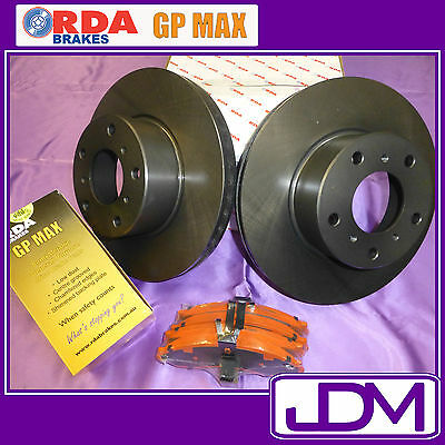 RDA Front Brake Disc Rotors & Pads FORD Falcon BA, XR6 XR8