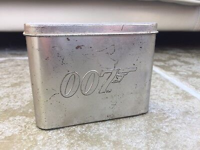 007 James Bond Tin Metal Container Rare