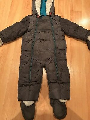 Baby Boys TED BAKER All-in-One Romper SNOWSUIT 9-12 Months