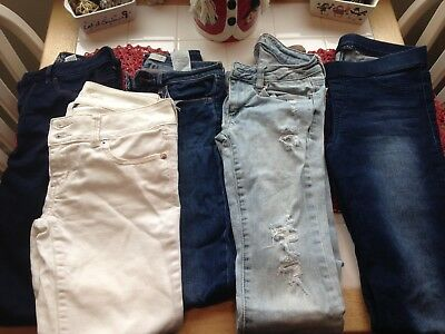 Lot of Five Womens/Girls Jeans