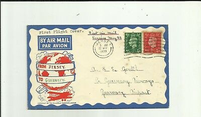 JERSEY GVI 1939 f/f cover to Guernsey