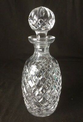 """Waterford Crystal Alana Spirit Decanter w/ Stopper 10 1/2"""" Tall"""