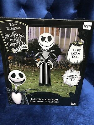 Jack Skellington Airblown Inflatable 3.5 ft Nightmare Before Christmas Light Up