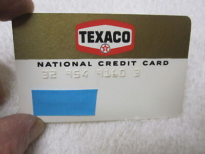 Vintage TEXACO Gas Oil Company National Credit Card Collectors Advertising