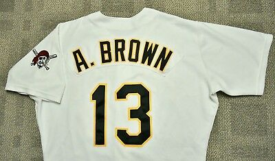 Pittsburgh Pirates ADRIAN BROWN Game Used Worn Jersey- PIRATES LOA (Red Sox,