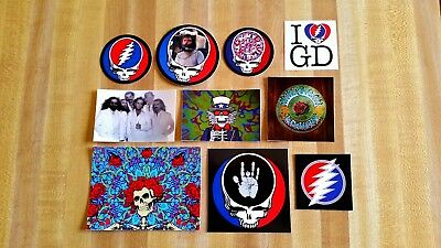 Lot Of 10 Grateful Dead Stickers. Steal Your Face. Brent. Bertha