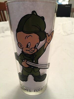 Vintage Pepsi Elmer Fudd Glass Looney Toons Collector Glasses Series Tweety Pig