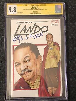 Star Wars Lando #1 CGC Admiral Billy Dee Williams Signed Sketch Cover Episode 9