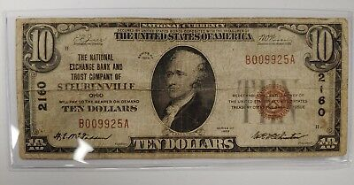 1929 $10.00 National Exchange Bank And Trust Company Of Steubenville, Ohio