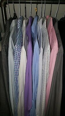 Men's Lot of 10 Dress Shirts 8 Pairs Dress Pants 8 Pairs Jeans Bulk Steal