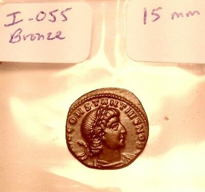 Ancient Roman Bronze 15mm Coin I Museum Quality Constantine 3rd -4th CenturyAD