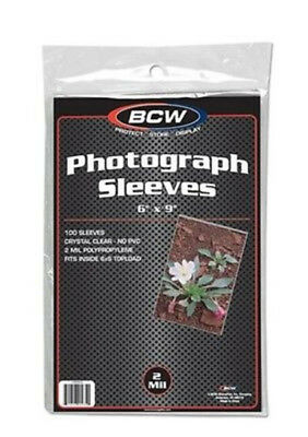 (25) Bcw 6X9 Photo Picture Image Soft Poly Acid Free Storage Sleeve Holders