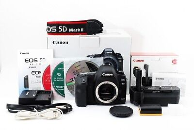 Canon EOS 5D Mark II 21.1MP Digital Camera BG-E6 Grip from Japan Excellent+