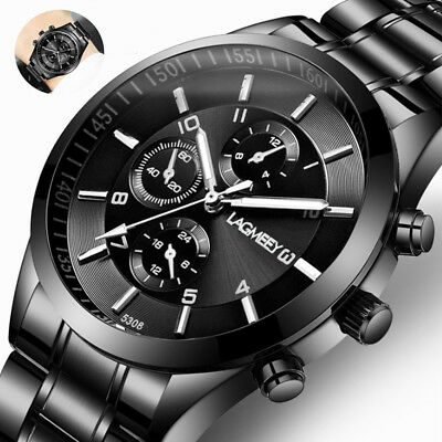 Men Sport Watch Dual Display Analog Digital LED Electronic Wrist Watches