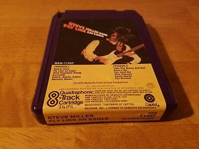 QUAD- Steve Miller- Fly Like An Eagle- Quadraphonic- 8 Track Tape