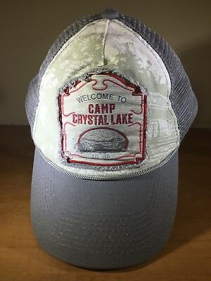 Friday the 13th ~ Camp Crystal Lake Jason Lives Trucker Hat With Jason Pin