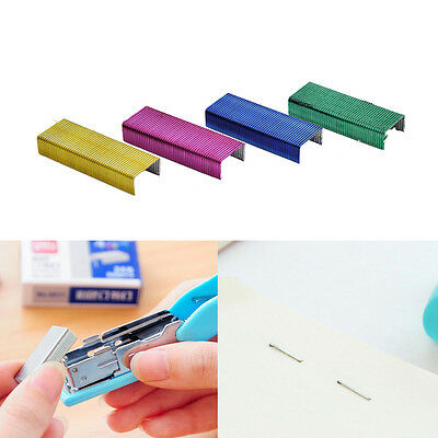 1Pack 10mm Creative Colorful Stainless Steel Staples Office Binding Supplies new