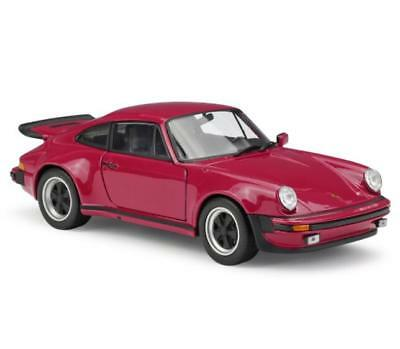 WELLY 1:24 1974 Porsche 911 Turbo3.0 Force Control Red Car Model Display Box