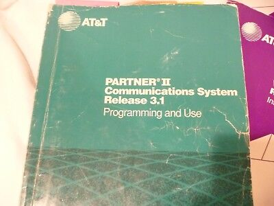At&t Partner 2 Phone Communications System Programming And Use Manual