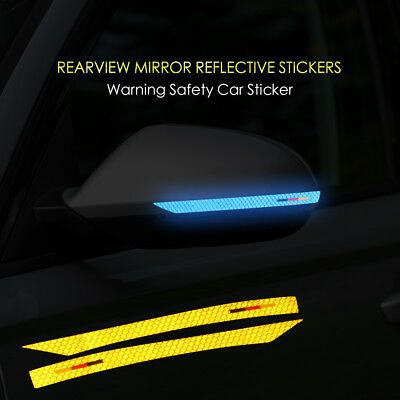 2pcs Reflective Tape Mark Side Rear View Mirror Stickers Decals For Audi A6 C7