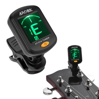 Digital Chromatic LCD Clip-On Electric Tuner for Bass Guitar Ukulele Violin NEW