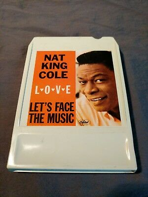 Nat King Cole: L-O-V-E & Let's Face the Music! 2 in 1!! 8 Track Tape