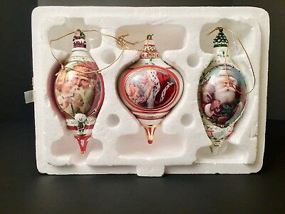 Bradford Exchange Santa Christmas Ornaments Merry Christmas To All