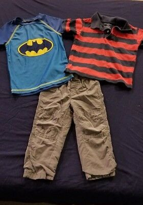 Boys 3T Winter Fall Clothes Lot 16 Pieces Reebok Batman Dory Carter's Garanimals