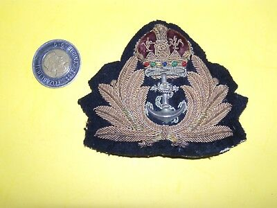 Canada WW II NAVY large officer's embroided hat badge